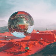"""If Everything Was Sci-Fi by Filip Hodas. """"The Prague-based artist makes his creations almost appear hyperreal, or a time-traveling example of what Earth may appear like in the year 3000."""" 