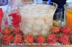 A seasonal fruit drink made from rambutan in #thailand