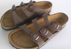 Birkenstock Tobago Brown 3Strap Unisex SOFT Foot Bed SIZE 40 L9 M7 Free USA Ship