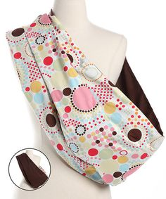 Look at this #zulilyfind! Pink Baby Dots Reversible Sling by Lucky Baby #zulilyfinds