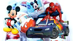 New Surprise Eggs Videos with Mickey Mouse Minnie Cars Spiderman Nova Su...