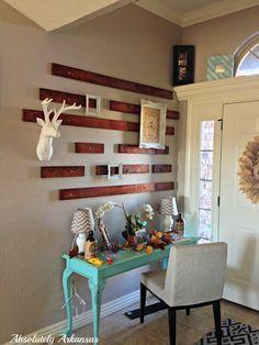 DIY wood wall