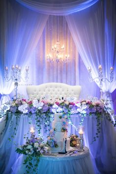 Elegant blue and lavender sweet sixteen and quinceanera party decorations with dreamy uplighting. Also can be used for romantic moody wedding reception and wedding ceremony decorations with uplighting. Wedding lighting decorations for blue wedding theme and lavender wedding color scheme. #sweet16 #sweet16partyideas #sweet16decorations #sweet16parttythemes #quinceaneraideas #quinceaneradecorations Wedding Reception, Uplighting Wedding, Wedding Lighting, Wedding Ideas, Wedding Inspiration, Sweet 16 Decorations, Ceremony Decorations, Purple Wedding, Spring Wedding