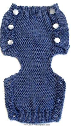 Baby Knitting Patterns Diese Hand gestrickte Windel Abdeckung Muster ist so stilvol...