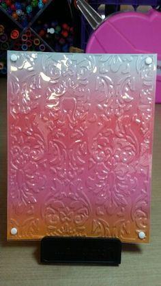 Card by Claire Morrison: Embossing with Cuttlebug Embossables