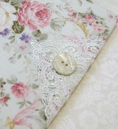 Shabby Cottage Chic Floral Fabric Covered Address Book - Quilt Gate's Marianne Collection - Includes Address Pages. $30.00, via Etsy.