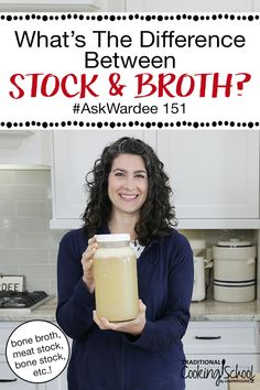 What's the difference between stock and broth? When a recipe calls for one, are you sure you're using the right thing? Is it ever important to use one, and not the other? Let's find out! #broth #stock #bonebroth Gaps Diet Recipes, Healthy Recipes, Gut Healing Diet, Bone Stock, Best Meat, How To Make Cheese, Bone Broth, Stuffed Whole Chicken, Cooking Videos