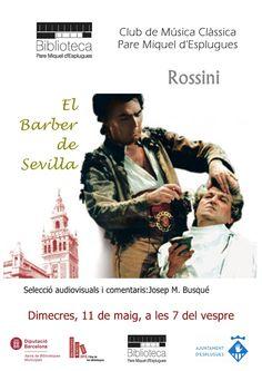 """""""El Barber de Sevilla"""" és sens dubte una de les obres més populars del repertori operístic, i una magistral comèdia musical.  Les característiques de la música de Rossini són:  espontaneïtat i gràcia,  extraordinària animació i moviment durant tota la representació que destaquen per damunt de tot."""