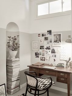 Painting just half a room can create an interesting, architectural effect.  7 Ideas to Steal from a Super-Stylish Scandinavian Home