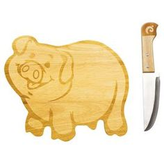 2 Piece Piggy Cutting Board Set. Hahaha this is so cute