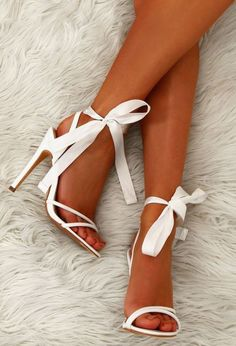 10 High Heels That You Will Want To Rock On Prom Night; shoes 10 High Heels That You Will Want To Rock On Prom Night - crazyforus High Heels Boots, Tie Heels, Lace Up Heels, Pumps Heels, Stiletto Heels, White High Heels, White Heals, High Heels Sandals, Shose Heels