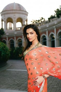 Deepika padukone in peach formal designer saree Indian Celebrities, Bollywood Celebrities, Bollywood Fashion, Bollywood Actress, Bollywood Style, Indian Dresses, Indian Outfits, Indian Clothes, Deepika Padukone Saree