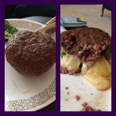 Armadillo eggs (ground beef, green bell pepper, seasoning salt, & Monterey jack cheese)