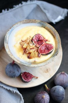 polenta almond milk porridge