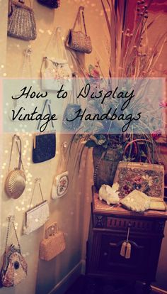 What a fabulous what to display those vintage thrift store purses and handbags!  LOVE this idea for a closet!