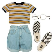 """""""b ur self"""" by aliennbby on Polyvore featuring Vans and Oliver Peoples"""