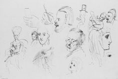 Heads, Hands, Mother and Child, and Other Figures by John Singer Sargent via American Paintings and Sculpture