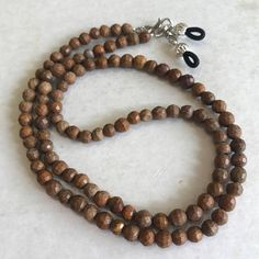 Tigerskin Jasper Hand Faceted Beaded Eyeglass Chain-Sunglass Chain-Eyeglass Holder-Chain for Glasses-Necklace