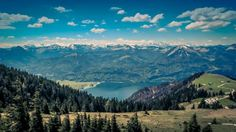 nature, landscape, mountains, summit, peaks, forests, trees, grass, water, lake…