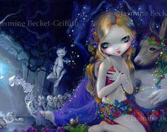 Kali hindu india goddess fairy art print by Jasmine by strangeling