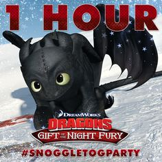 1 hour left until the Twitter Watch Party! Tweet along with us with #SnoggletogParty for a chance to win awesome Dragon prizes! Are you as excited as we are? http://bit.ly/DragonsHolidayPartyFB
