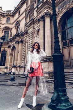 7e5eb5ebcc83e7 Shop the Look from VivaLuxuryBlog on ShopStyle. transparent coat, patent  leather, mini skirt ...