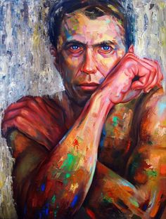 "ARTFINDER: I Didn't Exist by Alessio Radice - Figure portrait. Oil on panel, 75cm x 100cm (29,5"" x 39,4"") by Alessio Radice"