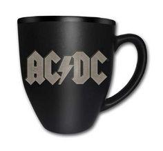 AC/DC band Logo Black 16 fl oz Matt Engraved Boxed Mug - Paradiso Clothing