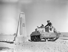 The British Army In North Africa The crew of a Bren gun carrier pause on their way to the forward area in the Western Desert to look at a monument erected by the Italians to commemorate the capture of Sidi Barrani a few months previous, 16 December Afrika Korps, Free In French, Military Equipment, Armored Vehicles, Special Forces, North Africa, Military History, World War Two, Military Vehicles