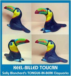 Sally Blanchard's Tongue-in-Beak Clayworks Keel-billed Toucan