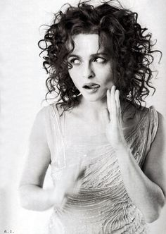 Helena Bonham Carter (b. 1966) is an English actress. She is known for her roles in films such as A Room with a View, Fight Club, and playing the villainess Bellatrix Lestrange in the Harry Potter series, as well as for frequently collaborating with director and domestic partner Tim Burton.