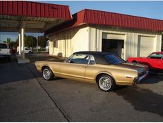 1968 Mercury Cougar...my 1st car...only mine was navy blue with a white top