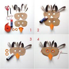 schaeresteipapier: Vogelhochzeit - Kindermasken