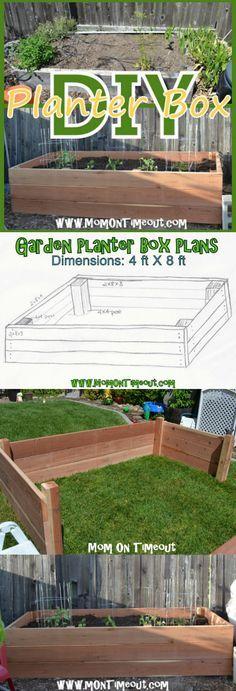 DIY Garden Planter Box Tutorial   MomOnTimeout.com