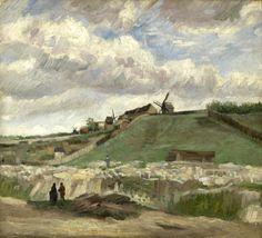 Vincent van Gogh The Hill of Montmartre with Stone Quarry Paris, June - July 1886   oil on canvas, 56.3 cm x 62.6 cm Van Gogh Museum, Amsterdam (Vincent van Gogh Foundation)