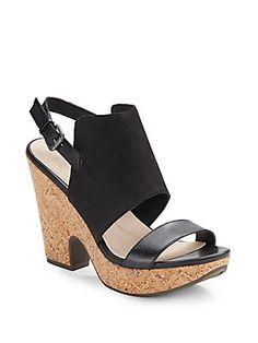 Misty Leather Platform Sandals