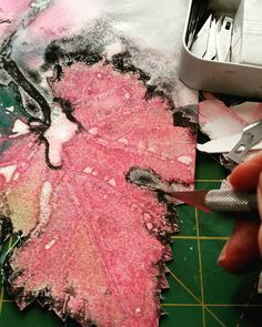 Don't forget to change your blade often. Trimming some leaf prints after using a unique colour combination for me, very early in the… Collage Art, Collage Ideas, Leaf Prints, Unique Colors, You Changed, Color Combinations, Don't Forget, Give It To Me, Delicate