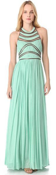 Nicolette Leather Trim Gown - gorgeous!