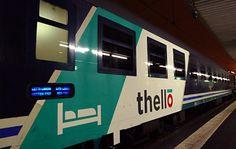 Refurbished sleeping-car on the Paris to Venice 'Thello' sleeper train