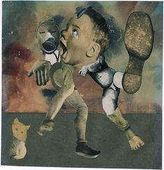 Die Ewigen Schuplattler (The Eternal Folk Dancers) by Hannah Höch, 1933. Collage and watercolor.