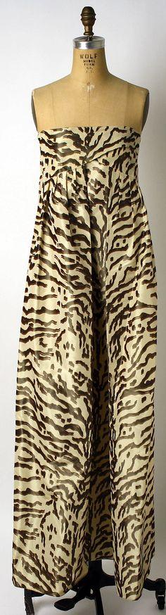 Geoffrey Beene Silk Evening Dress, ca. 1965