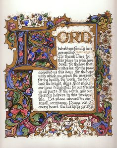 "'Family' ~ Illuminated Calligraphy Made to Order - Commission Sample ""Prayer for Success"" ~ k Old Calligraphy, Calligraphy Alphabet, Medieval Books, Medieval Manuscript, Illuminated Letters, Illuminated Manuscript, Fonts To Draw, Prayer For Success, Sample Prayer"