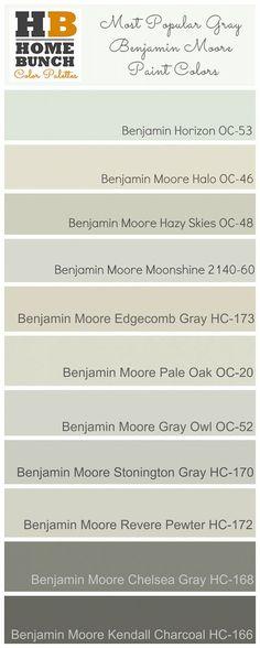 Most Popular Gray Benjamin Moore Paint Colors. Benjamin Horizon OC-53, Benjamin… More