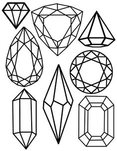 Free Gemstones Coloring Page Bloggers' Best DIY Ideas