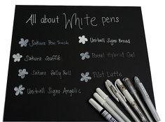 Article: World of White Pens :: Uni-ball Signo Broad - acid free | Fine White Pens: Sakura Souffle, Sakura Gelly Roll, Pentel Hybrid Gel, Pilot Latte & Uni-Ball Angelic. Overall, the JetPens favorites are the Uni-ball Signo Broad, Uni-Ball Angelic and Pilot Latte pens.