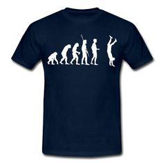 Die Evolution der Menschheit die mit einen Handstand endet.