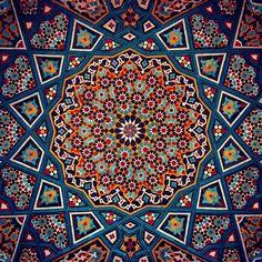 Iranian Tile Arts. Qom. Iran
