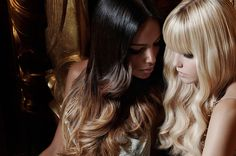 2014 Hair color trends: Soft golden blond and brown honey ombre
