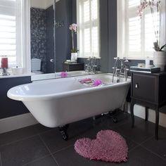 Classic black bathroom   Glamorous bathroom   housetohome.co.uk