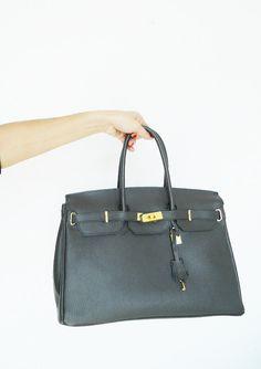 aff9cf61b197b Vintage tooled Bag London smoke Gray color genuine leather bag festival  summer kelly rocker office purse boho maxi birkin satchel bucket